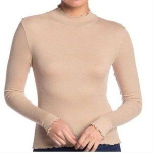 Abound Slim Fit Knit Sweater Ruffle Neck Knit Top